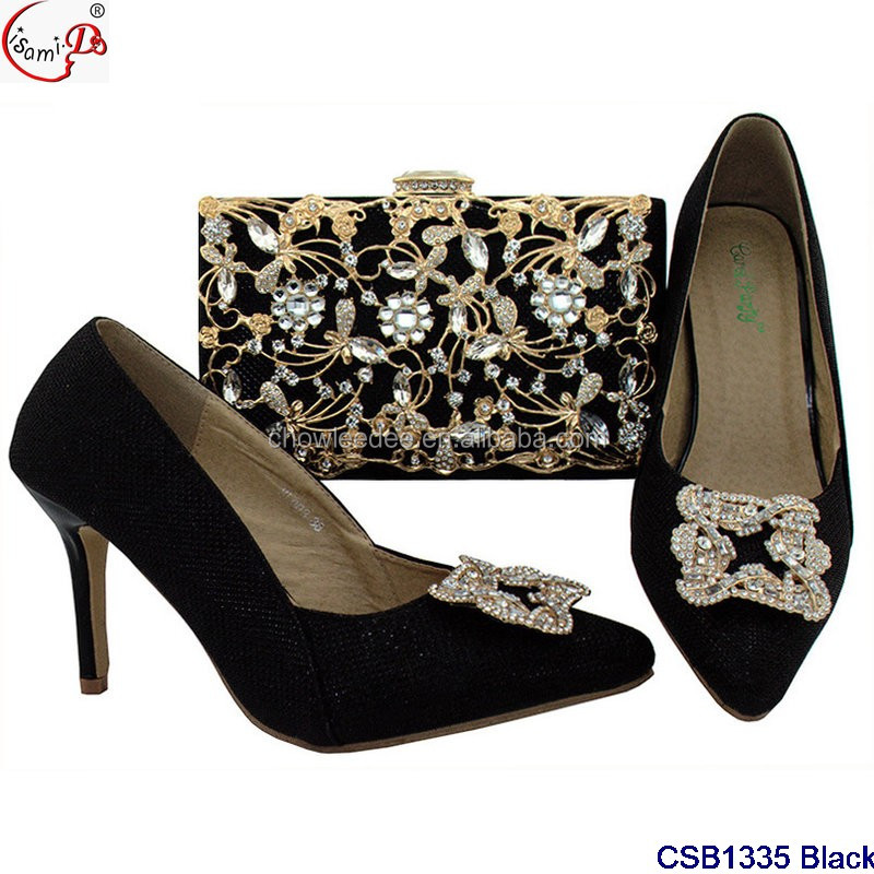 and clutch wedding crystal shoes black bag and shoes party high size 42 Wine quality CqRw5qE