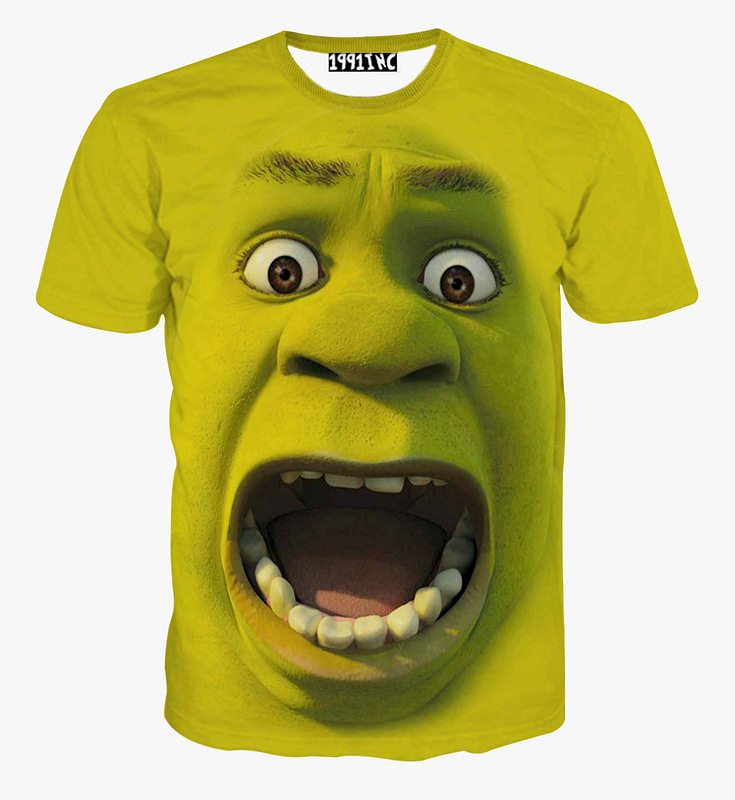 2de3acb53 Buy 3d t shirt cartoon movie graphic tees Shrek big face funny freakish  expression tee shirt women/mens casual tees unisex tops in Cheap Price on  Alibaba. ...
