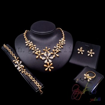 Gold Plated Fashion Jewelry Sets Wholesale African Costume Jewelry