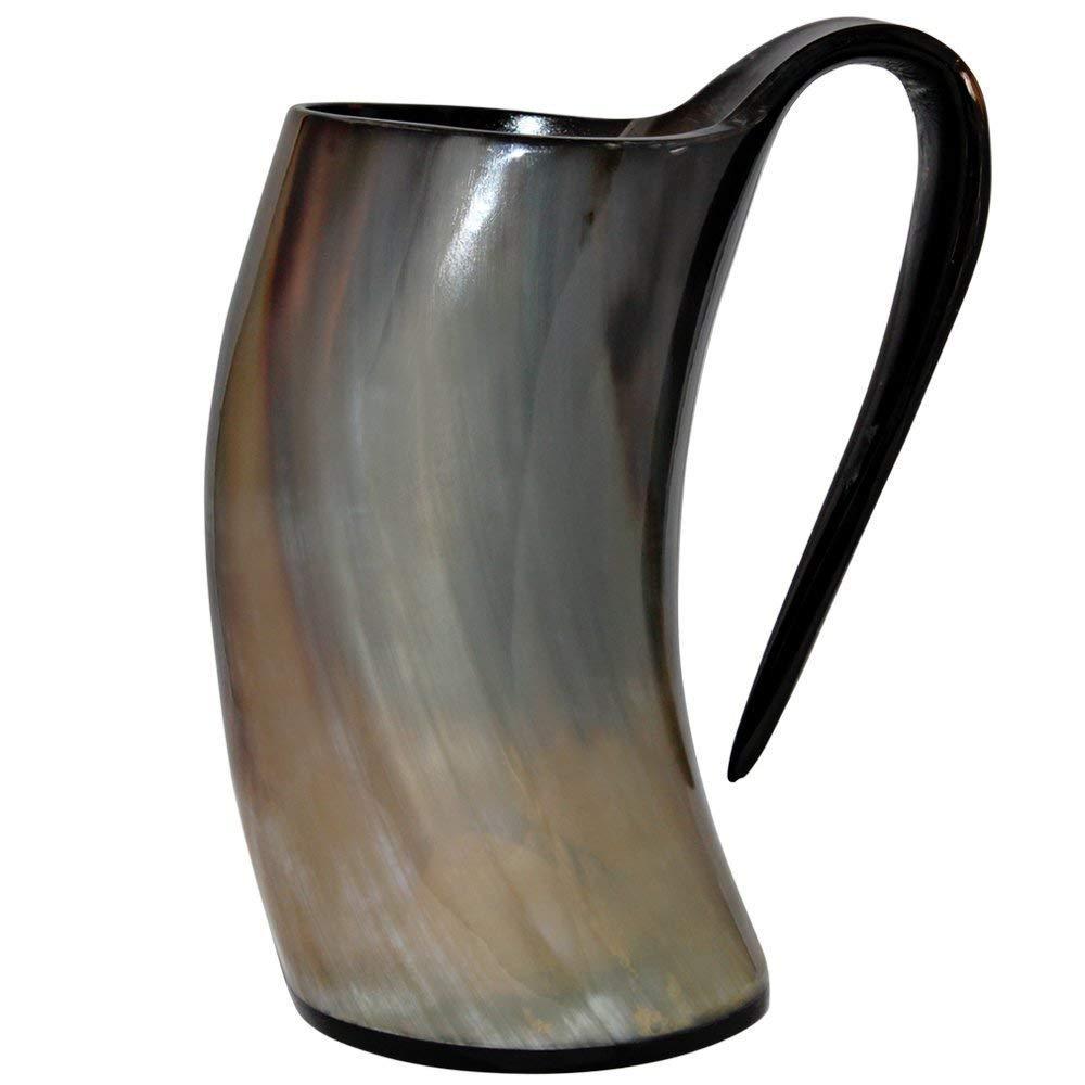 Premium Horn Mug 24oz.   Viking Mug Beer Tankard   Drinking Horn Mug Authentic Viking Drinking Mug