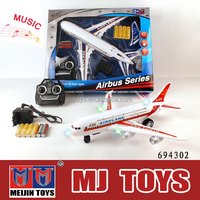 Musical Mini 2ch rc airplane airbus a380 flash rc plane wholesale