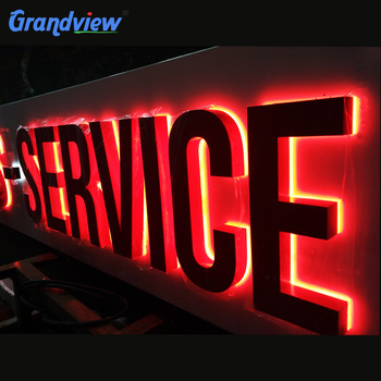 Grandview Waterproof Light Up Letters 3d Led Backlit Signage,Logo  Signs,Company Logo Name - Buy Light Up Letters For Sign,Led Sign Board  Lighted