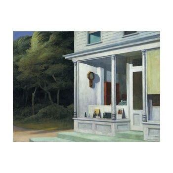 Free Shipping Edward Hopper Giclee Canvas Print Paintings Poster Reproduction Fine Art Wall Decor(Seven AM)