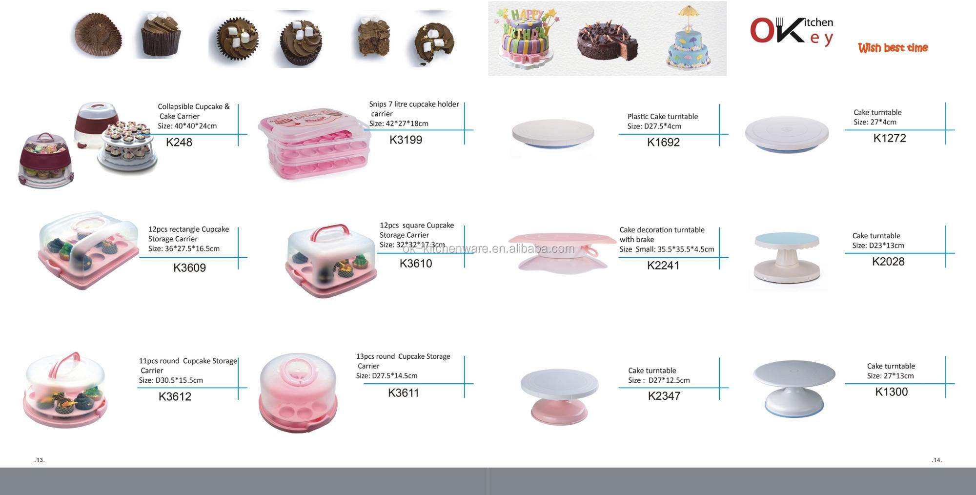 Di Vendita caldo 3 A File Cupcake Carrier