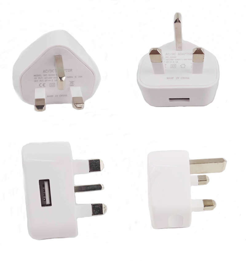 UK USB Travel Startpagina AC Wall Charger Adapter