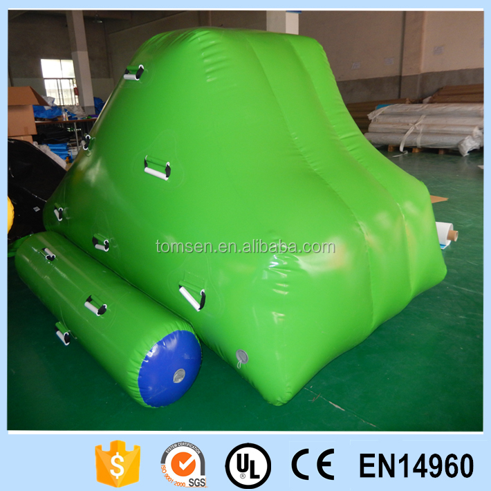 Durable inflatable water floating iceberg for games playing