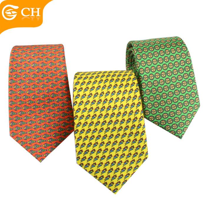 Latest Custom Personalized Animal Digital Printing 100% Silk Mens Tie