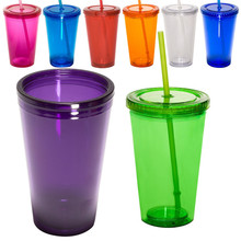 Cool Style Plastic Water Bottle Sturdy Sipper with Straw