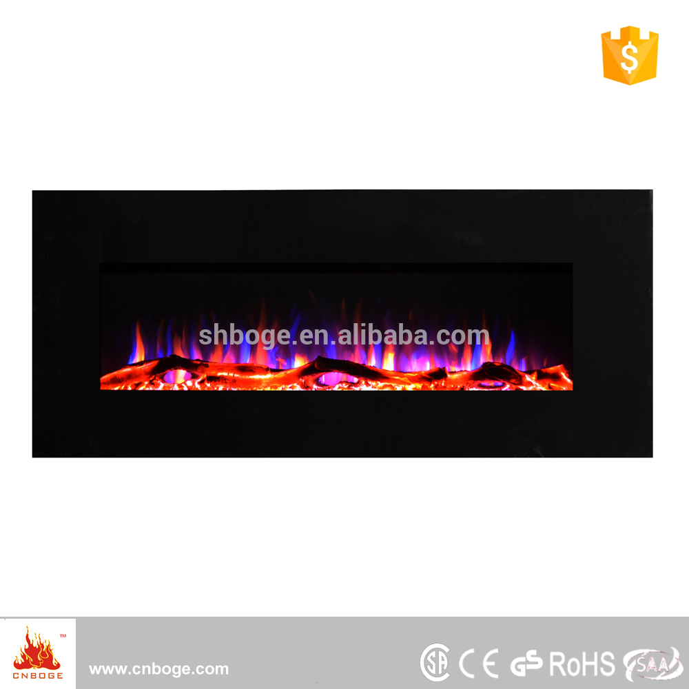 "50"" Eco Flame electric wall mount fireplace heater"