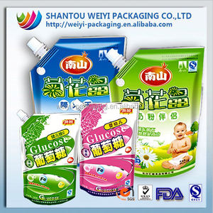 Liquid Packaging Bag for Detergent, Fabric Softener, Good Property of Dart-impact Strength,spout pouch