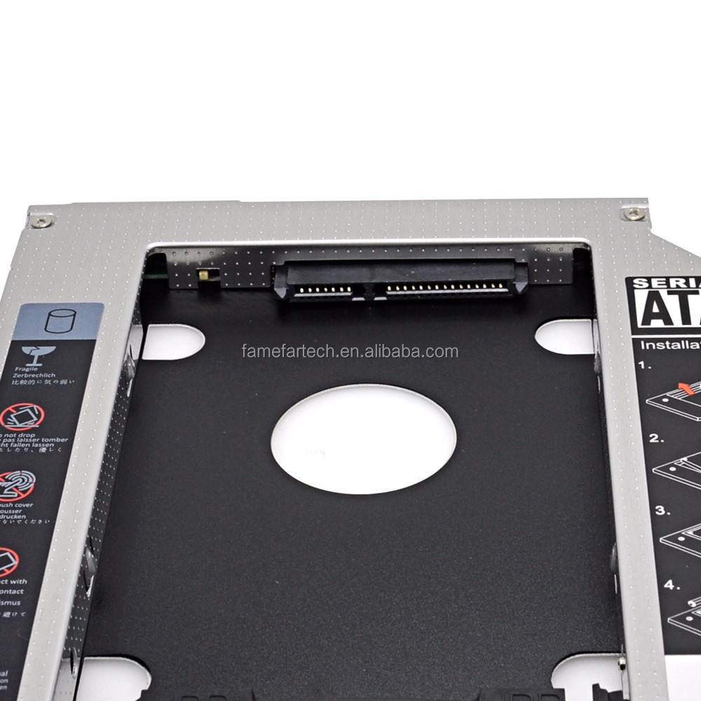 "Aluminum 2nd HDD Caddy 9.5mm Optibay SATA 3.0 CD DVD Driver to HDD Case Enclosure for Apple Macbook Pro 13"" 15"" 17"" SuperDrive"