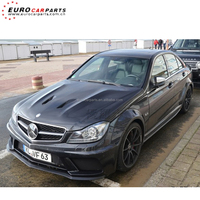 C63 black series body kits style fit for C-class W204 C63 2011y sedan to C63 sedan black series wide body kits