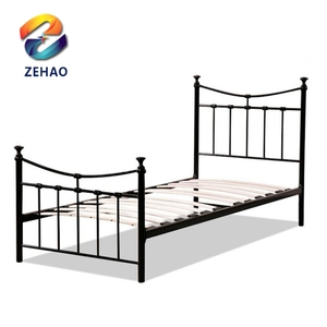 Latest Designs Double Iron Steel Metal Bed/BedRoom furniture/Double Metal Bed Frame