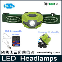 Factory OEM LED headlamp rechargeable with both of lithium and AAA battery for outdoor camping hiking reading