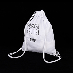 High quality promotional cotton calico drawstring bag