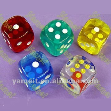 High quality acrylic engraved dice