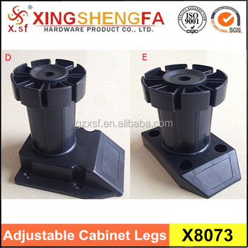 Adjustable Plastic Leveling Feet Of Cabinet Furniture Leg Extenders
