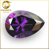 Large Stock 7x9mm Artificial Amethyst Cubic Zircon