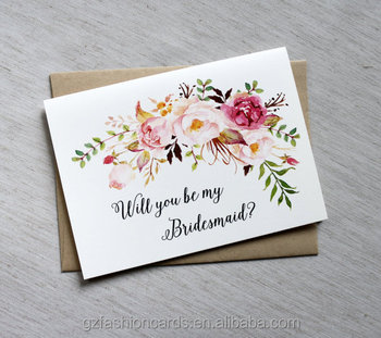 Will You Be My Bridesmaid Cardsbridesmaid Proposal Cardcustom
