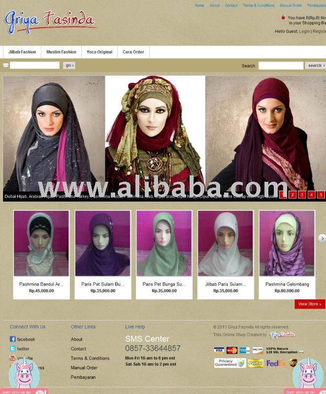 online store website basic