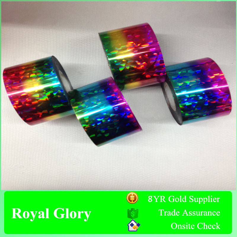 Royal Glory 2017 M-glue Hot Stamping Foil for Plastics PP PVC ABS PU Plate