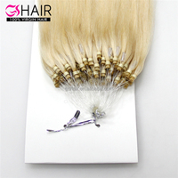 Alibaba human hair supplier colored hair on sale remy micro loop indian hair extensions