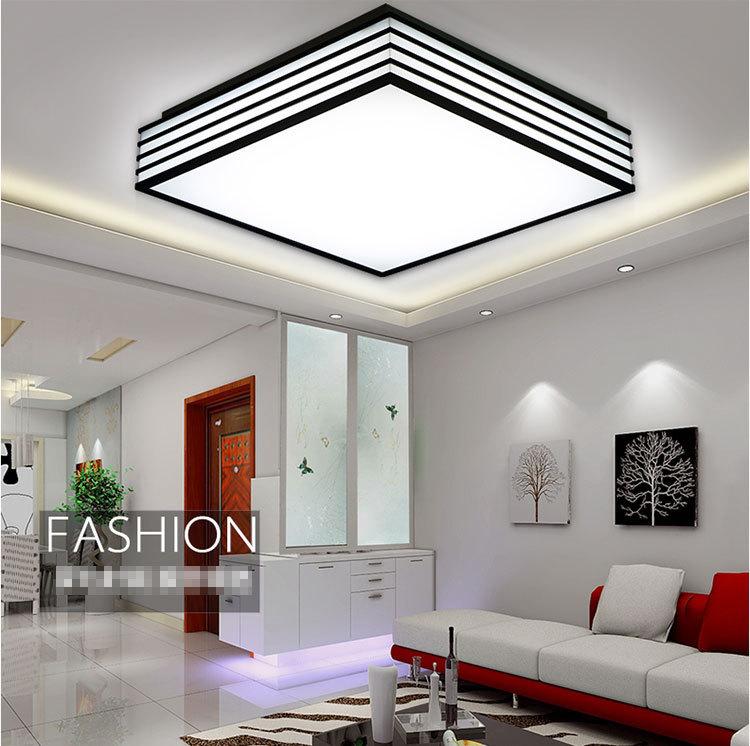 LED Acrylic Black And White Square Ceiling Lights LED