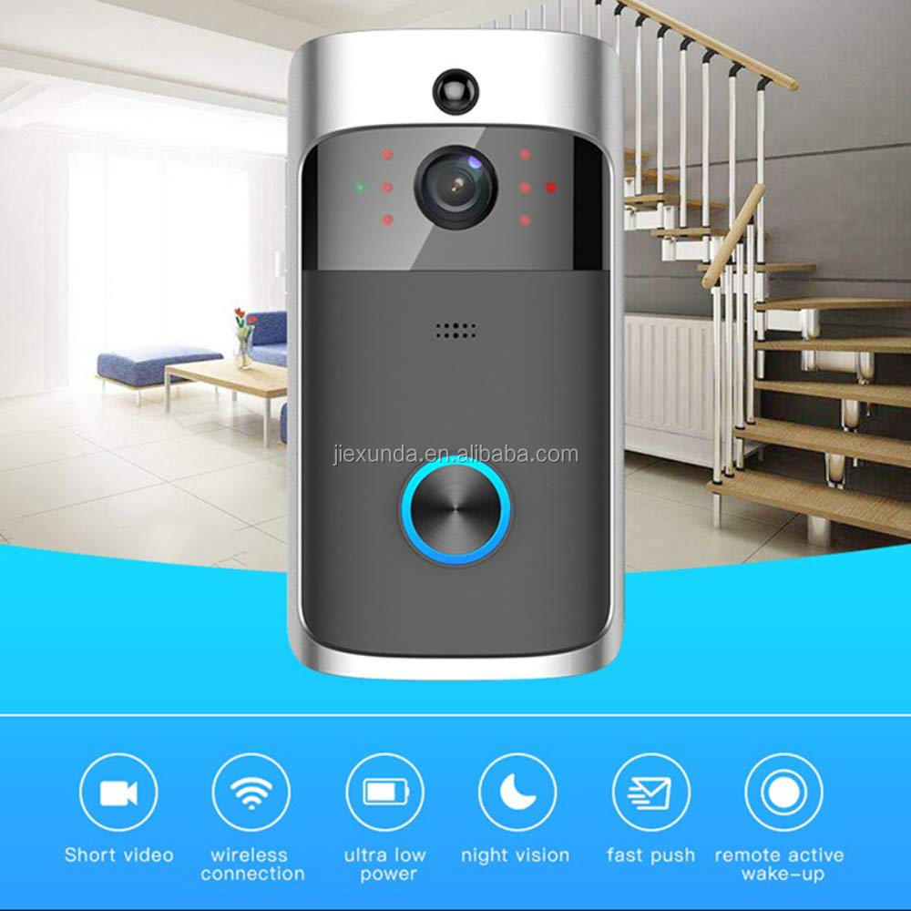 WIFI Video Campanello, intelligente senza fili Campanello 720 P HD Videocamera di Sicurezza Citofono Porta in Tempo Reale A due Vie Parlare e Video per amazon