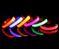 rechargeable flashing led dog collars