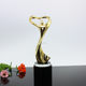 1 pc MOQ wholesale gold plating metal oscar trophy/ hot fashion angel metal trophy figurines