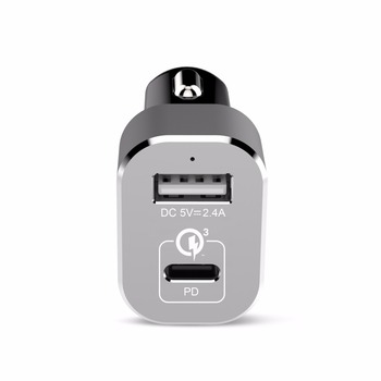 30W 15V 2A PD type c car charger with Power Delivery 2.0 fast charging for iPhone8 X Macbook