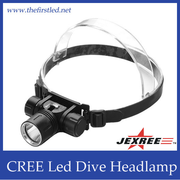 Waterproof IP68 Reachargeable Portable LED Diving Headlight
