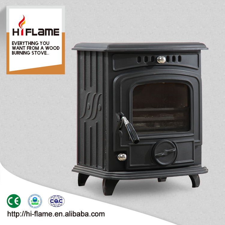 Hiflame Small Style Cast Iron Material and Wood Stoves Type Cast Iron Stove / Wood Burning Stove with Single Door