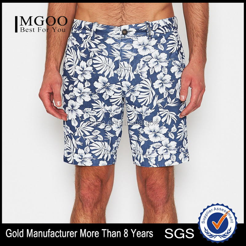 MGOO Summer Stylish Quick Dry Surfers Shorts Customizable Chino Shorts Navy/White Mens Swimming Suits
