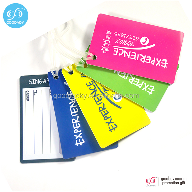 Lovely Promotional gift customized Soft pvc luggage tag