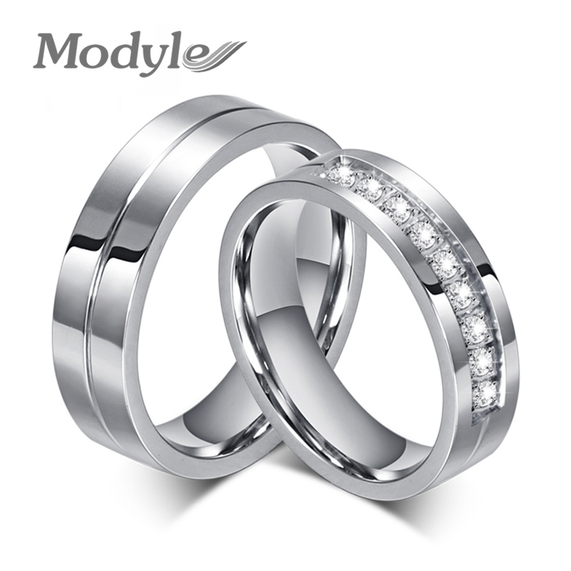 2016 New CZ Wedding Rings For Women Men Platinum Plated