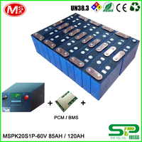Customized LiFePO4 battery pack 60V 120AH For golf cart
