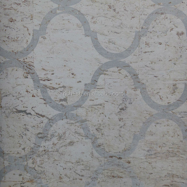 silver cork home wall decorative paper from China with printing