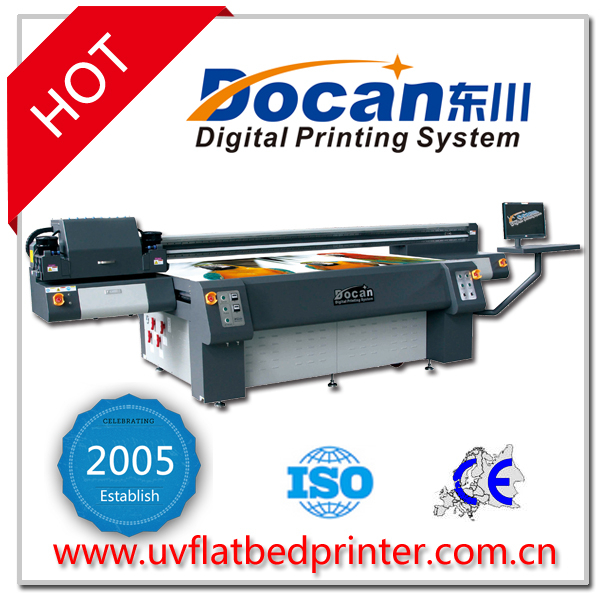 2.5m*1.2m Docan air conditioner panel digital uv printing machine with Kyocera head