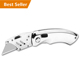 Wholesale Carton Cutter Folding Utility Knife, Paper Cutter Knife,Safety Box Cutter Knife