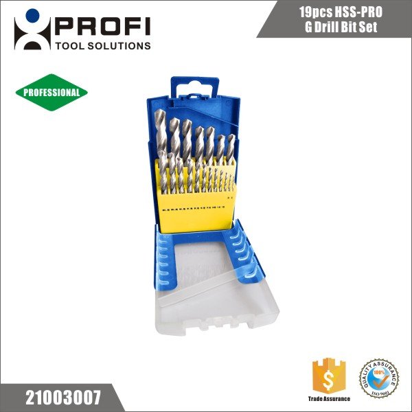 19pcs professional 135 split point M2 metal twist drill bits