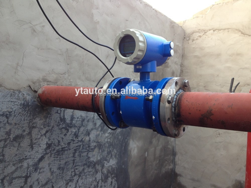 PTFE lining material WFD series nitric acid flow meter/chemical liquid flow meter