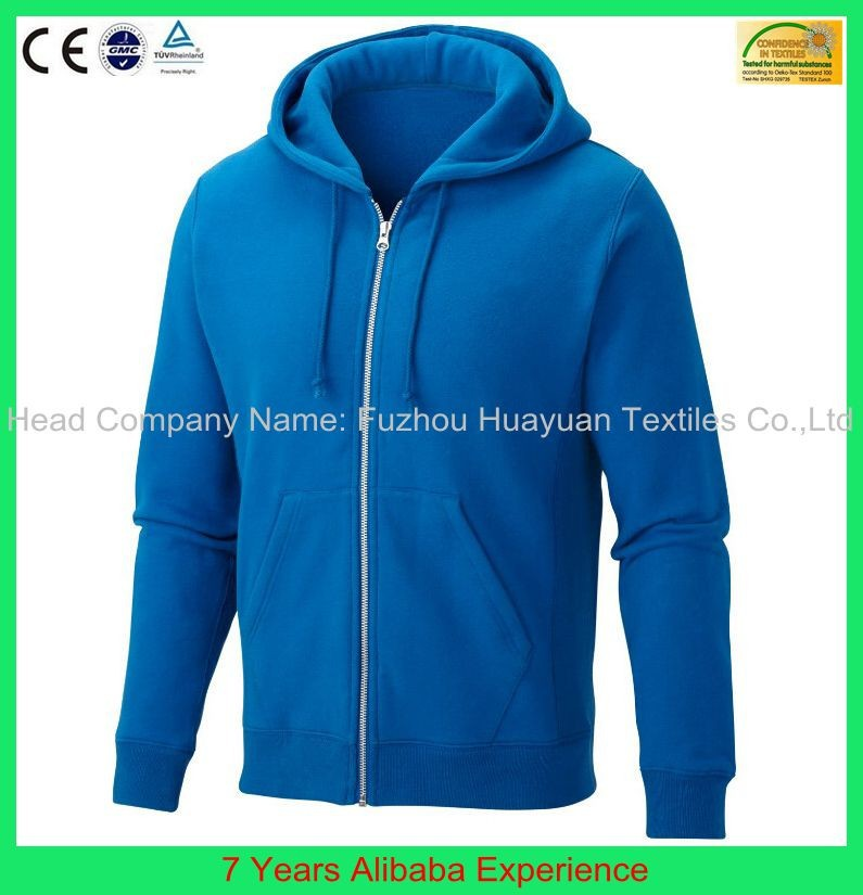 2015 fashion design favorable price plain zip up hoodies wholesale man hoody- 7 Years Alibaba Experience