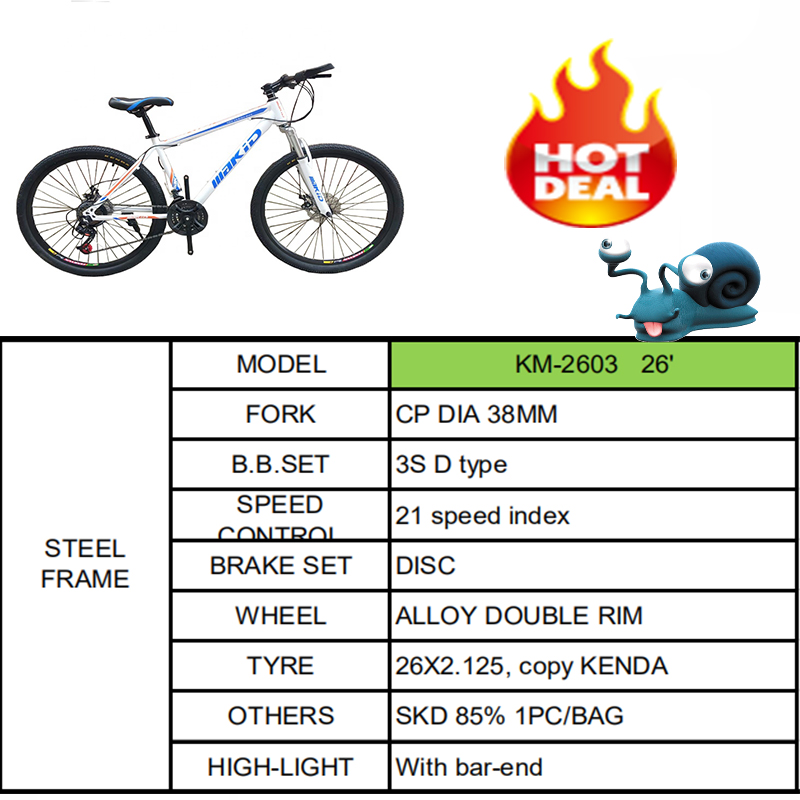 sale at breakdown price 26 inch mtb bicycle/ students sports bike
