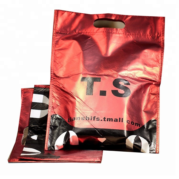 Guangzhou Custom Printed Logo Recyclable Eco Friendly Tote Shopping PP Laminated Non Woven Fabric Carry Bag