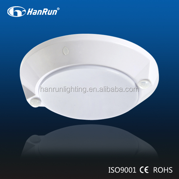 10W round PIR sensor LED ceiling lights with PIR lights off after 90s