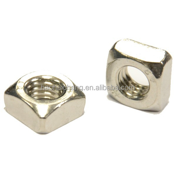 High structure precision oem nosntandard square thread bolt and nut