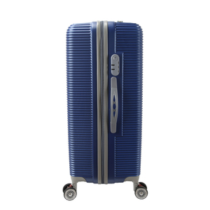 125b42694 China factory zipper plastic blue hard ABS trolley luggage with 3 pcs set