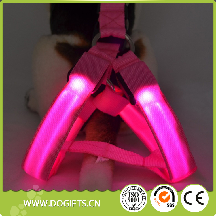 New design LED puppy harness Reflective Fluorescent Adjustable <strong>Dog</strong> Harness / Pet Harness For <strong>Dog</strong> / Retractable <strong>Dog</strong> Lead