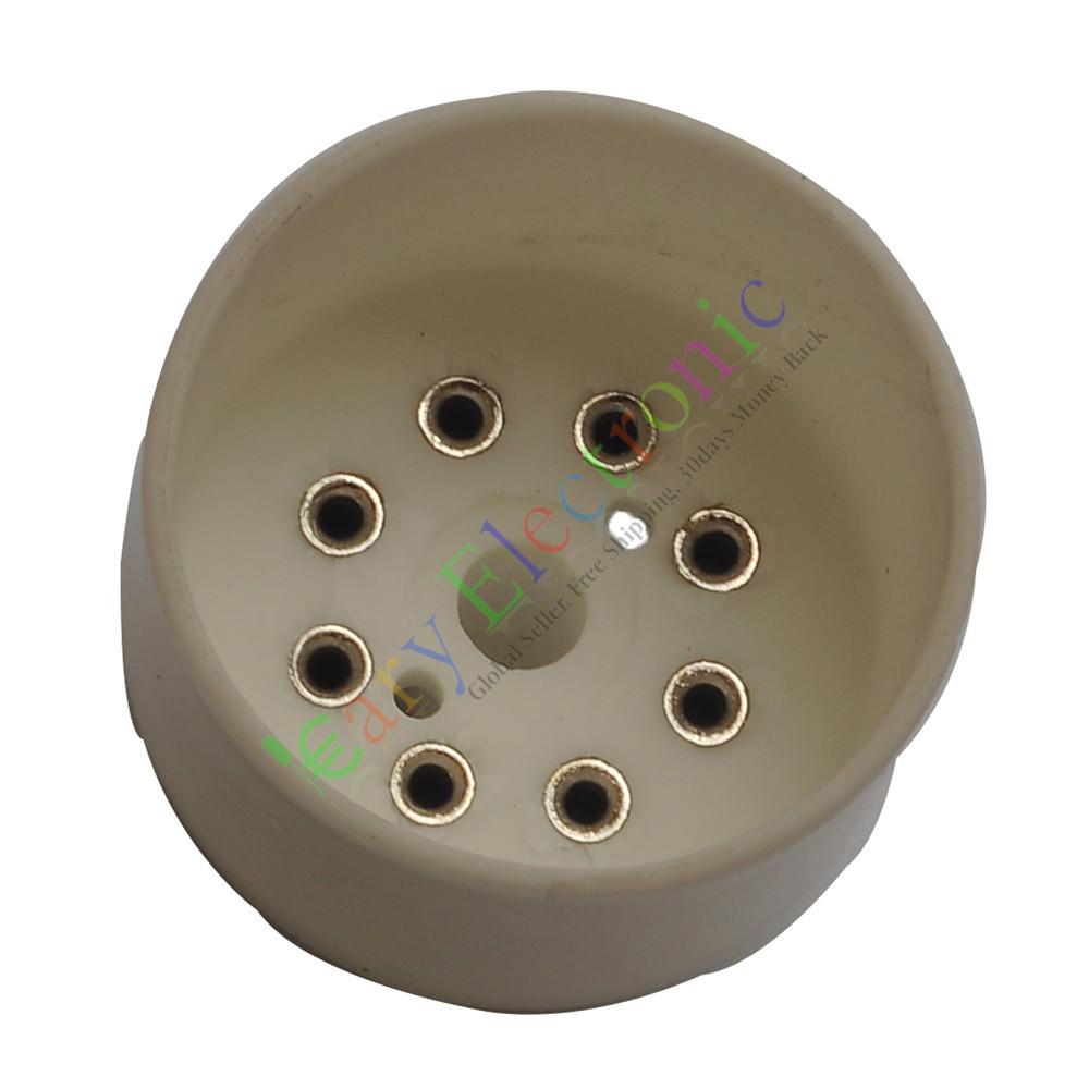 Base PARA KT88 EL34B 8Pin Cerâmica soquetes de TUBO de Vácuo de ÁUDIO amplificadores de guitarra DIY